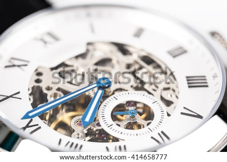 Automatic Men Watch With Visible Mechanism