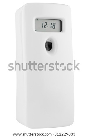 Automatic odour dispenser with timer made of white plastic