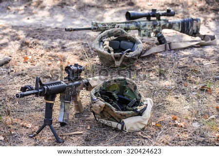 Automatic rifles with a telescopic sight