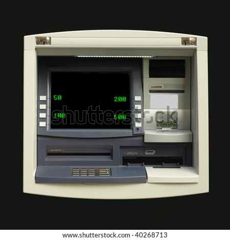 Automatic Teller Machine (ATM) for cash withdrawal at a bank - stock photo