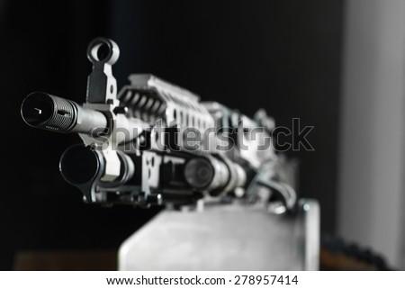 automatic weapons, machine gun - stock photo
