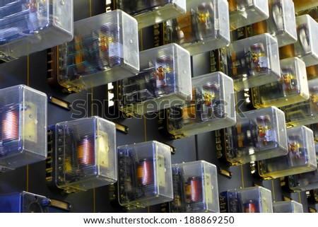 Automation in the industry - stock photo