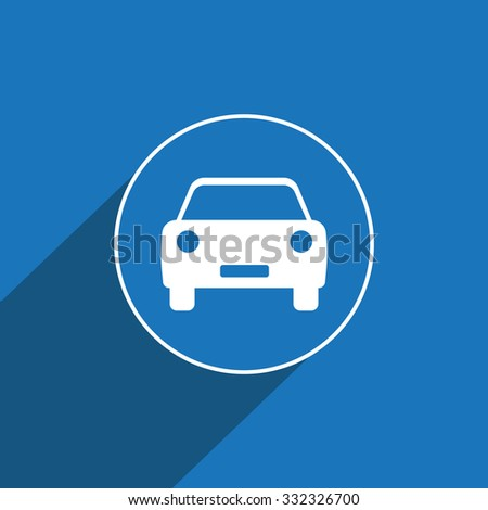 Automobile, car sign icon. Flat design style for web and mobile.