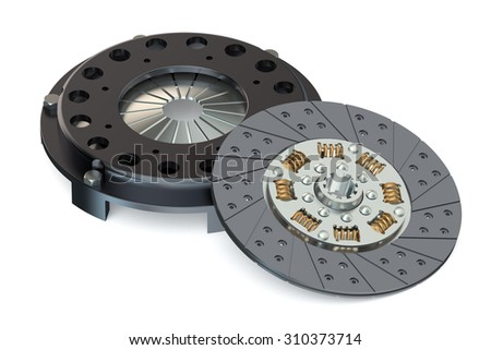 automobile clutch  isolated on white background