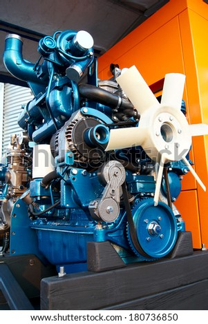 Automobile internal combustion engine - stock photo