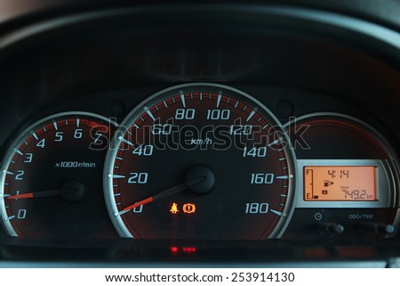 Automobile oil consumption instrument display