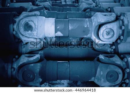 automobile shaft isolated - stock photo