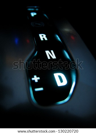 automobile shifter - stock photo