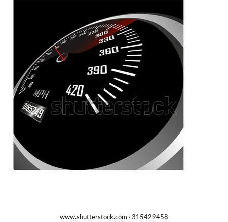 Automobile speedometer - stock photo