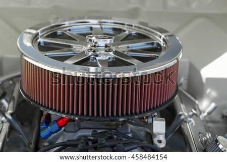 Automotive air filter - stock photo