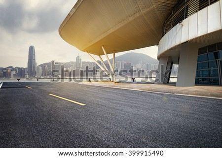 Automotive background in Hong Kong - stock photo