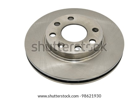 automotive parts brake disc on a white background