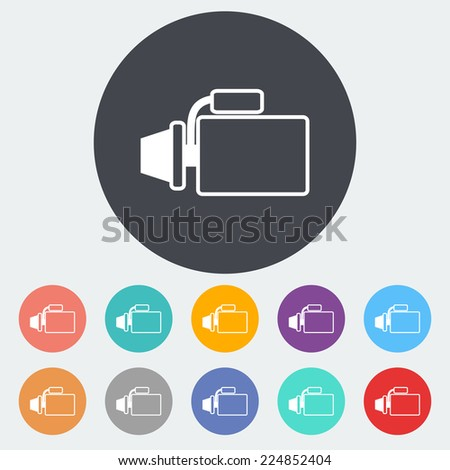 Automotive starter. Single flat icon on the circle.  - stock photo