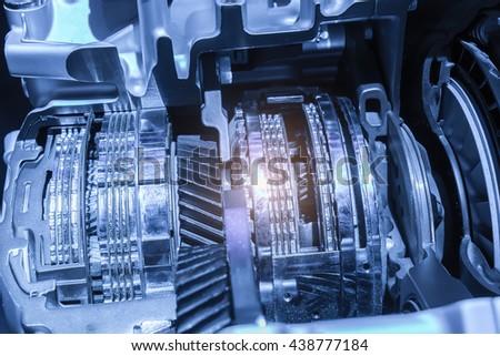 Automotive transmission gearbox - stock photo