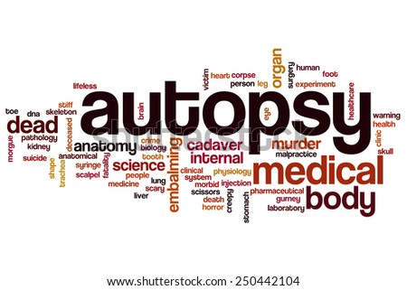 Autopsy word cloud concept - stock photo