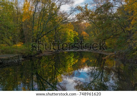 Autumn Along The Ramapo RIver, New Jersey