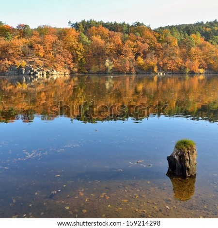 Autumn at Brno Dam in Czech Republic