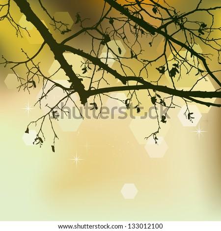 Autumn background, ornament - stock photo