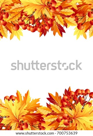 Autumn Background Fall Maple Tree Leaves Stock Illustration