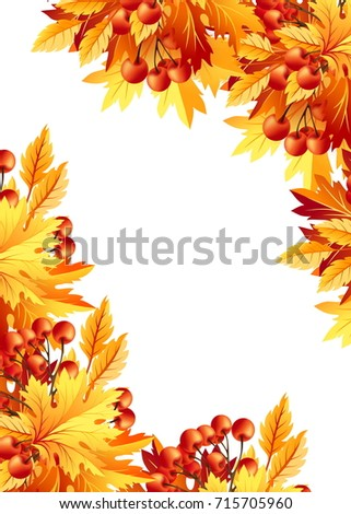 Autumn Background Fall Maple Tree Leaves Stock Vector 489234862