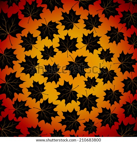 autumn background with maples leaves. - stock photo