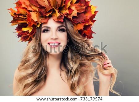 Autumn Beauty Beautiful Woman Spa Model Stock Photo 733179574 ...