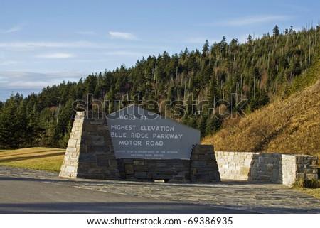 Autumn, Blue Ridge Parkway, NC - stock photo