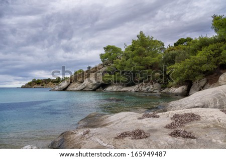 Autumn by the sea, in Sithonia, Chalkidiki, Greece