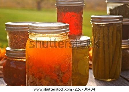 Autumn Canned Goods - stock photo