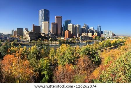 Autumn Colors - Calgary, Alberta, Canada. - stock photo