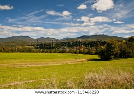 autumn comes to western Maine - stock photo