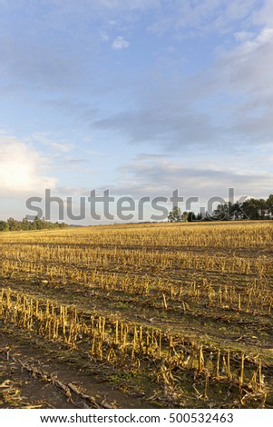 Autumn country Landscape in south Bohemia, Czech Republic