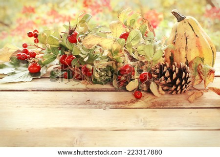 autumn decoration in vintage style