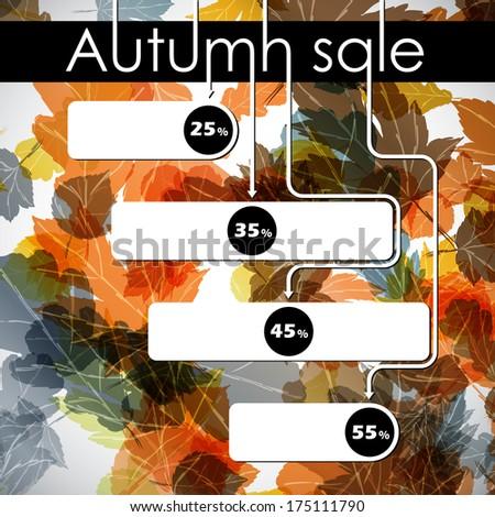 autumn discount sale - stock photo
