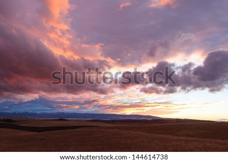 autumn evening - stock photo
