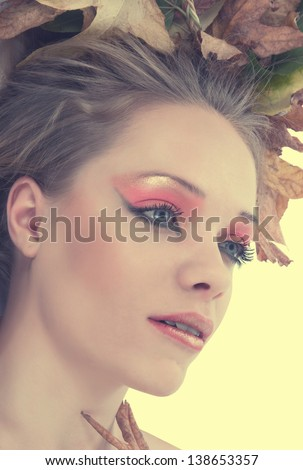 autumn fashion portrait of woman