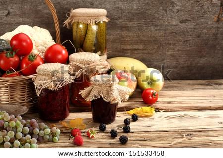 autumn food  - stock photo