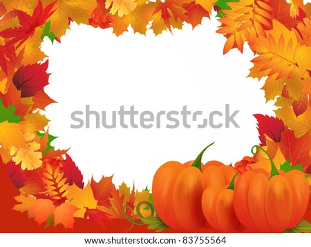 Autumn frame illustration