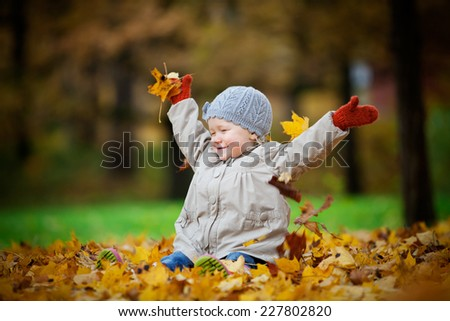 Autumn fun - stock photo