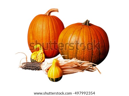Autumn harvest ready for Halloween and Thanksgiving holidays