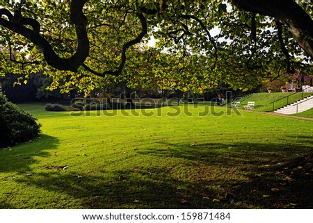 Autumn in a Danish park. - stock photo
