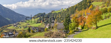 autumn in alpine city