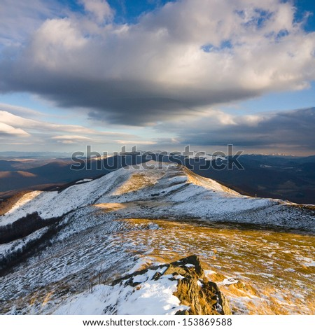 Autumn in Bieszczady Mountains, Poland  - stock photo