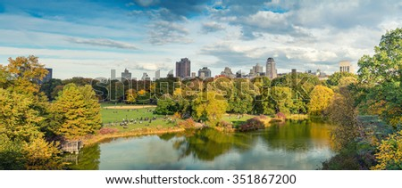 Autumn in Central Park. - stock photo