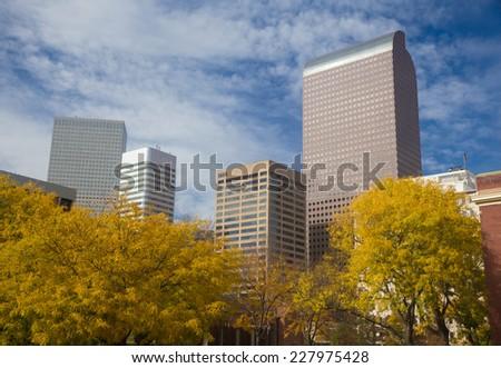 Autumn in Downtown Denver, Colorado - stock photo