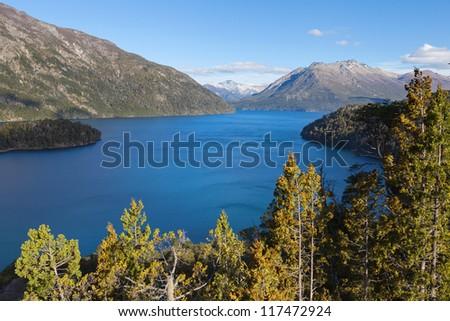 Autumn in Patagonia, Argentina - stock photo