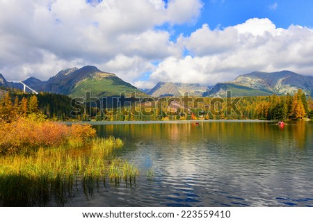 Autumn in Tatry mountains