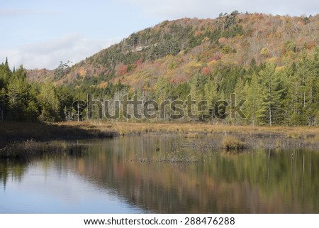 Autumn in the Adirondacks of New York. - stock photo