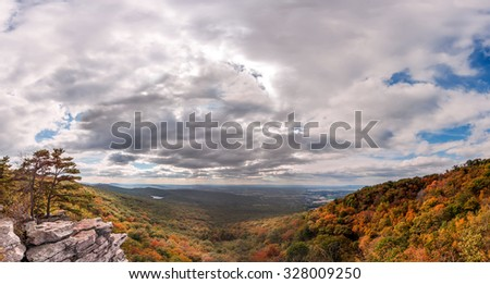 Autumn in the Appalachian mountains of Maryland - stock photo