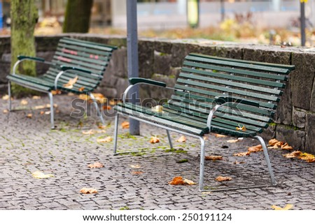 autumn in the city - stock photo